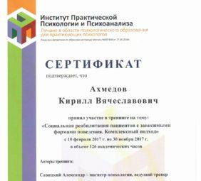 Кирилл Ахмедов диплом 1