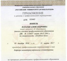 Наталья Кошель диплом 6